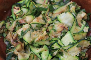 Minty Courgette Salad