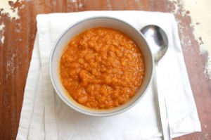 Red Lentils and Pumpkin Soup
