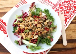 Quinoa and Chickpea Salad with Miso and Orange Dressing